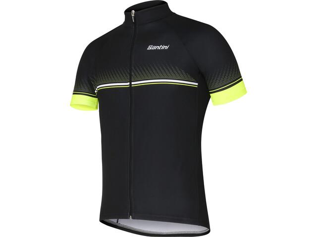 Santini Atollo Kortærmet cykeltrøje Herrer gul/sort | Trøjer